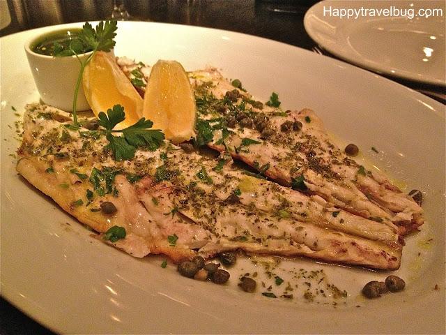 Whole Grilled Branzino which is a Mediterranean Sea Bass