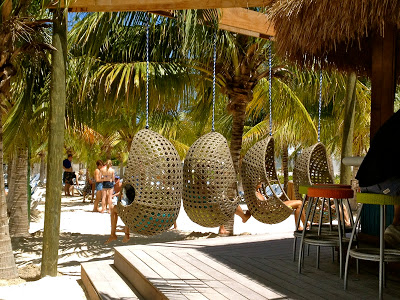Cool hanging chairs at Margaritaville