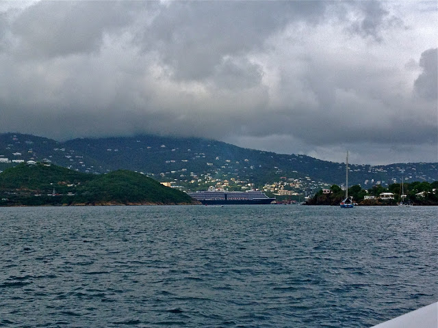 Rainy day in Charlotte Amalie, St. Thomas