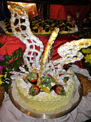Elaborately decorated cake