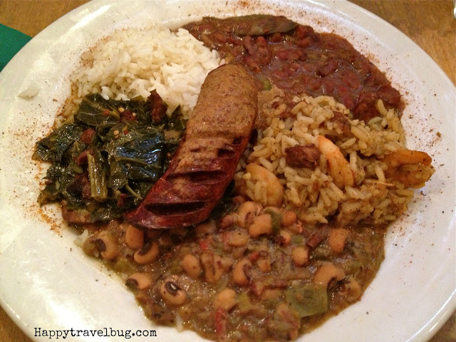 Louisiana Soul Deluxe plate with many different foods