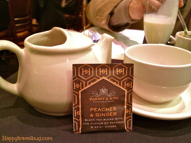 Harney & Sons hot tea in peaches and ginger flavor