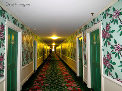 The hallway of rooms