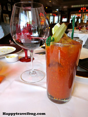 Bloody mary and wine