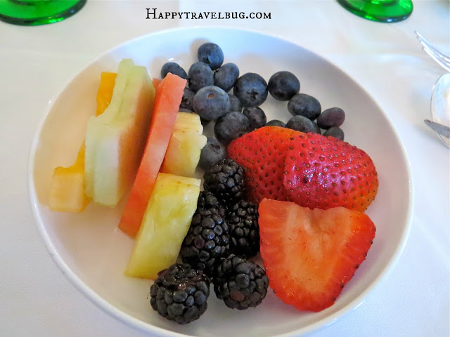 fruit from the Greenbrier buffet breakfast
