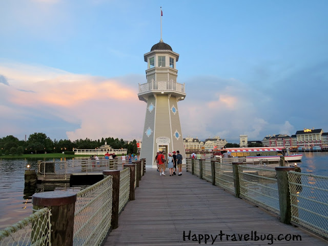 The pier shared by the Beach and Yacht Club at Disney