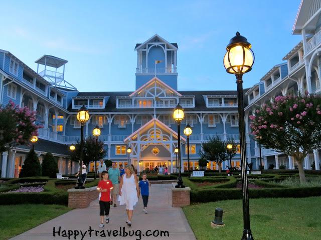 The exterior of Disney's Beach Club Resort