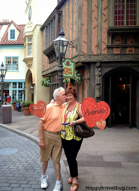 My in-laws at the England World showcase in Epcot