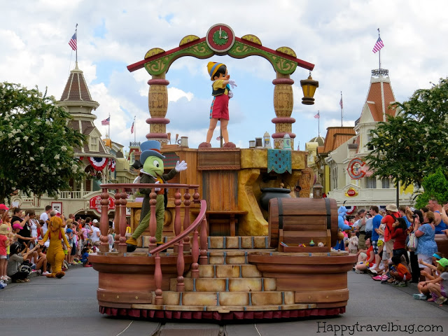 Pinocchio's float at Disney World