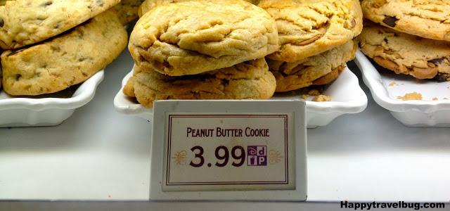 Huge peanut butter cookie at Disney World