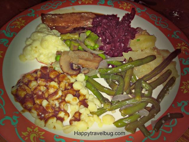 German food from the Biergarten Restaurant in Epcot