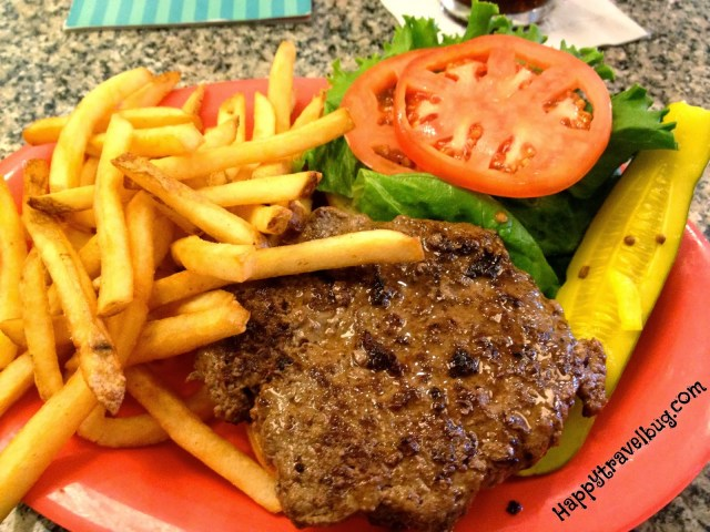 Angus Beef Burger at Beaches and Cream in Disney World