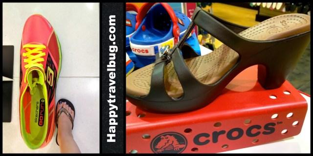 Giant sketchers and heeled crocs...who knew?