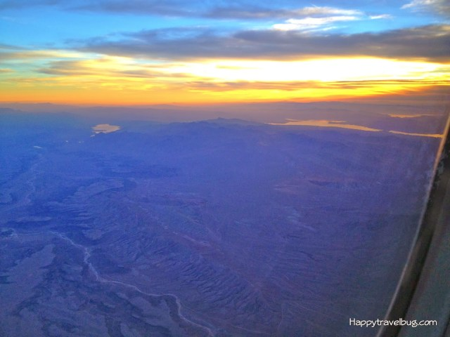 Watching the sunset from my airplane...Happytravelbug.com