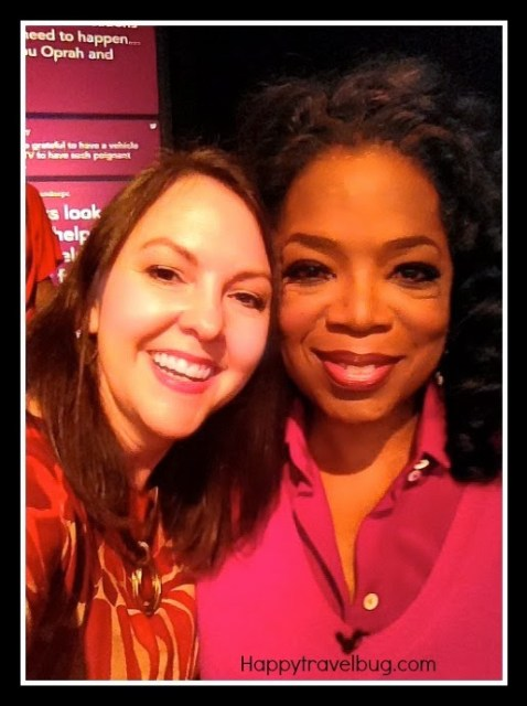Me (happytravelbug.com) and Oprah at Harpo Studios
