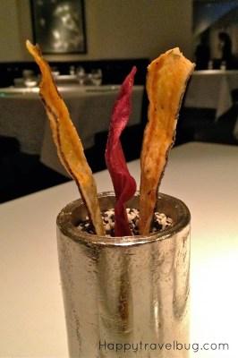 """Unconventional """"bread basket"""" at TRU restaurant in Chicago"""