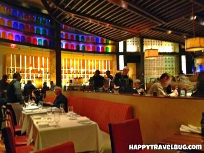 The decor of Mesa Grill restaurant in Las Vegas