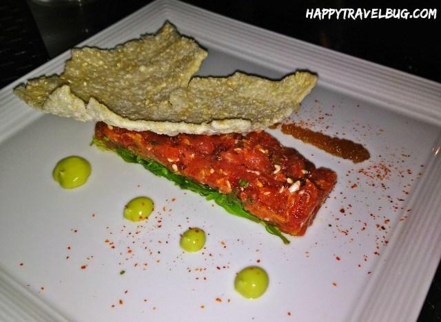 yellowfin tuna poke from Aureole in Las Vegas