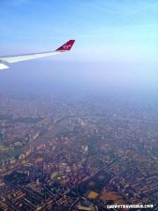 Flying to Barcelona