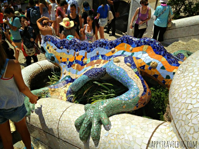 Mosaic lizard at Park Guell in Barcelona, Spain