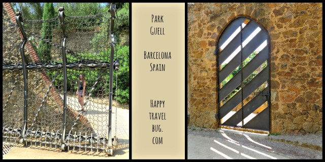 Gates at Park Guell in Barcelona, Spain
