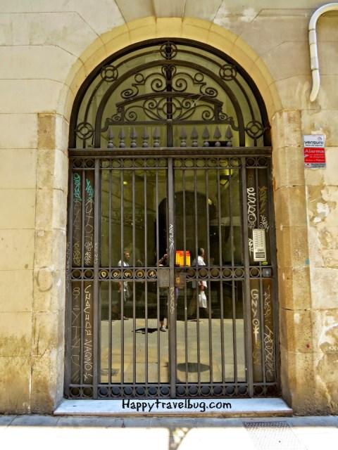 Metal door in Barcelona, Spain