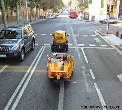 Tiny cars in Barcelona, Spain