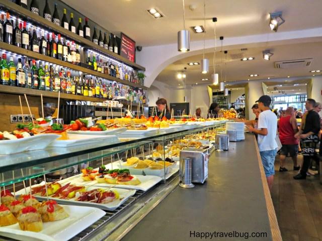 Tapas restaurant in Barcelona, Spain