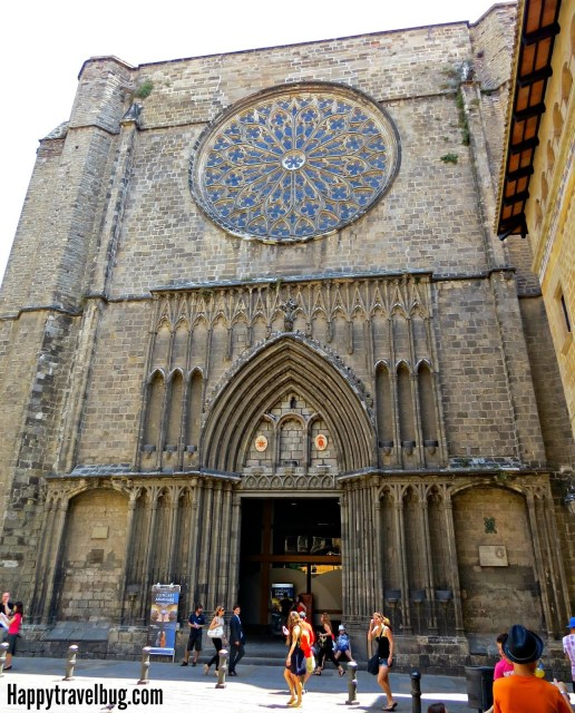 The Basilica Santa Maria del Pi in Barcelona, Spain