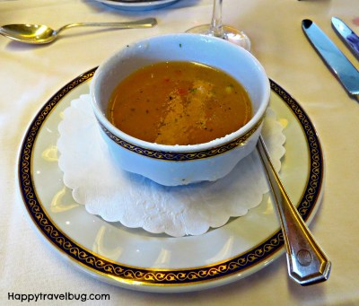 Gazpacho from dinner on our Holland America cruise