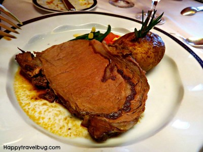 Prime Rib from dinner on our Holland America Cruise