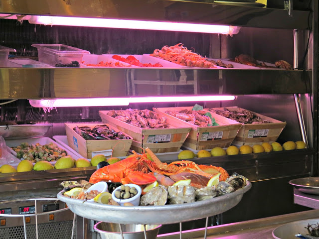 Fresh seafood in Nice France