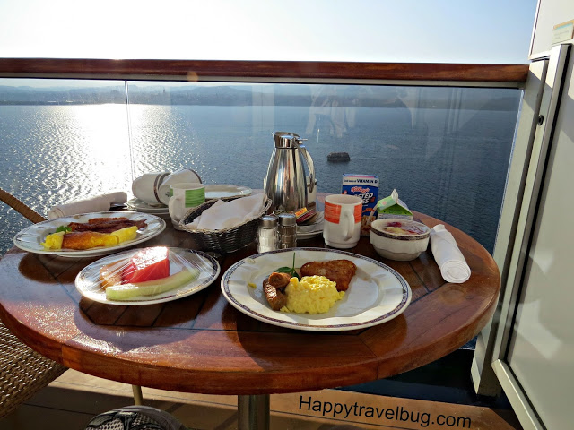 In room breakfast on a Holland America Cruise