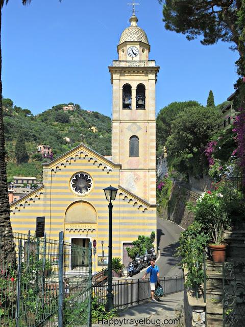 Portofino, Italy church