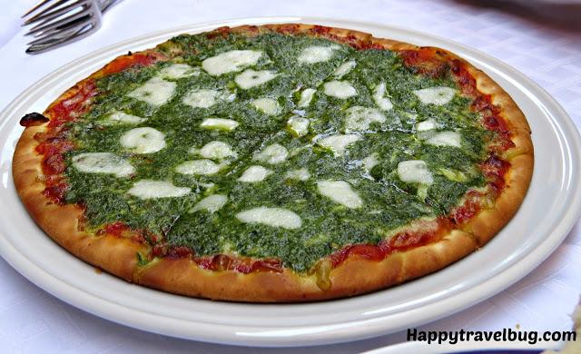 Pesto pizza in Italy