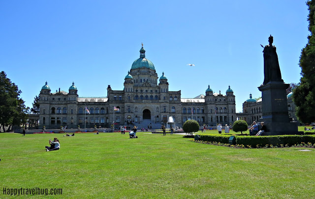 Parliament building in Victoria, BC