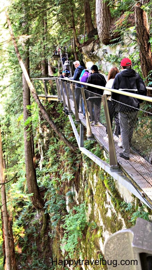 Cliffwalk at Capilano Suspension Bridge Park in Vancouver, Canada