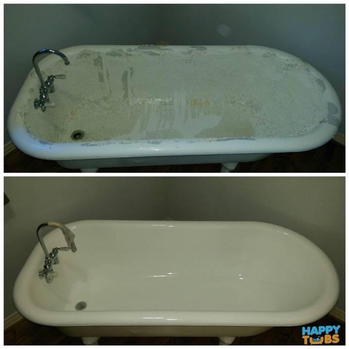 Clawfoot Tub Refinishing in Dallas, TX - Happy Tubs Bathtub Repair