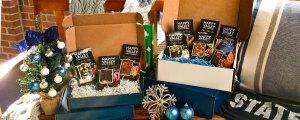 Blue and White Christmas Soups in Gift Boxes
