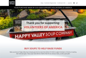 Volunteers of America Shop Page Screenshot