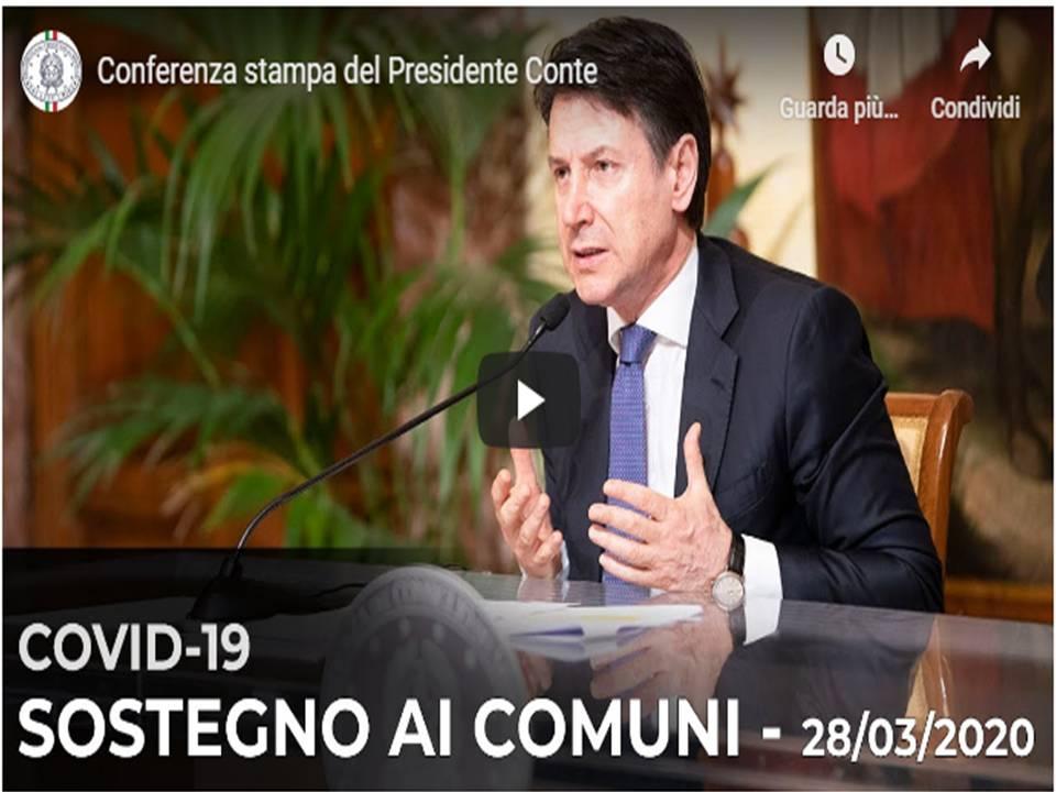 Presidente Conte  - Conferenza stampa del Presidente del Consiglio 29 marzo 2020