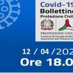 Bollettino Covid-19: i casi in Italia alle ore 18 del 12 aprile
