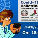 Bollettino Covid-19: i casi in Italia alle ore 18 del 24 agosto