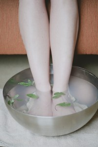A foot bath