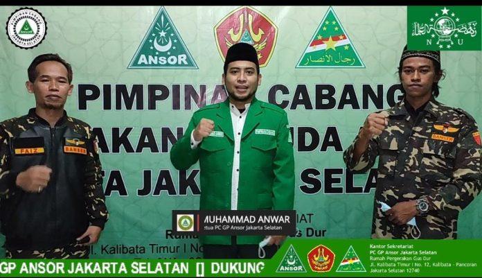 Keluarga BesarGP AnsorJakarta Selatanmensosialisasikan dan mengajak kepada masyarakat DKI Jakarta untuk menolak paham radikalisme,