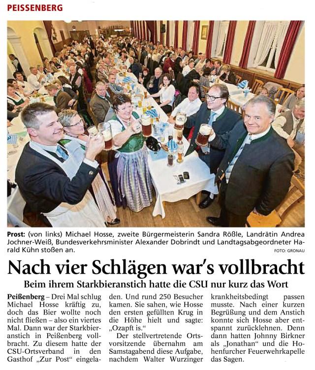Weilheimer Tagblatt 7.3.2016