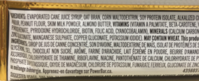 Power Bar Ingredients