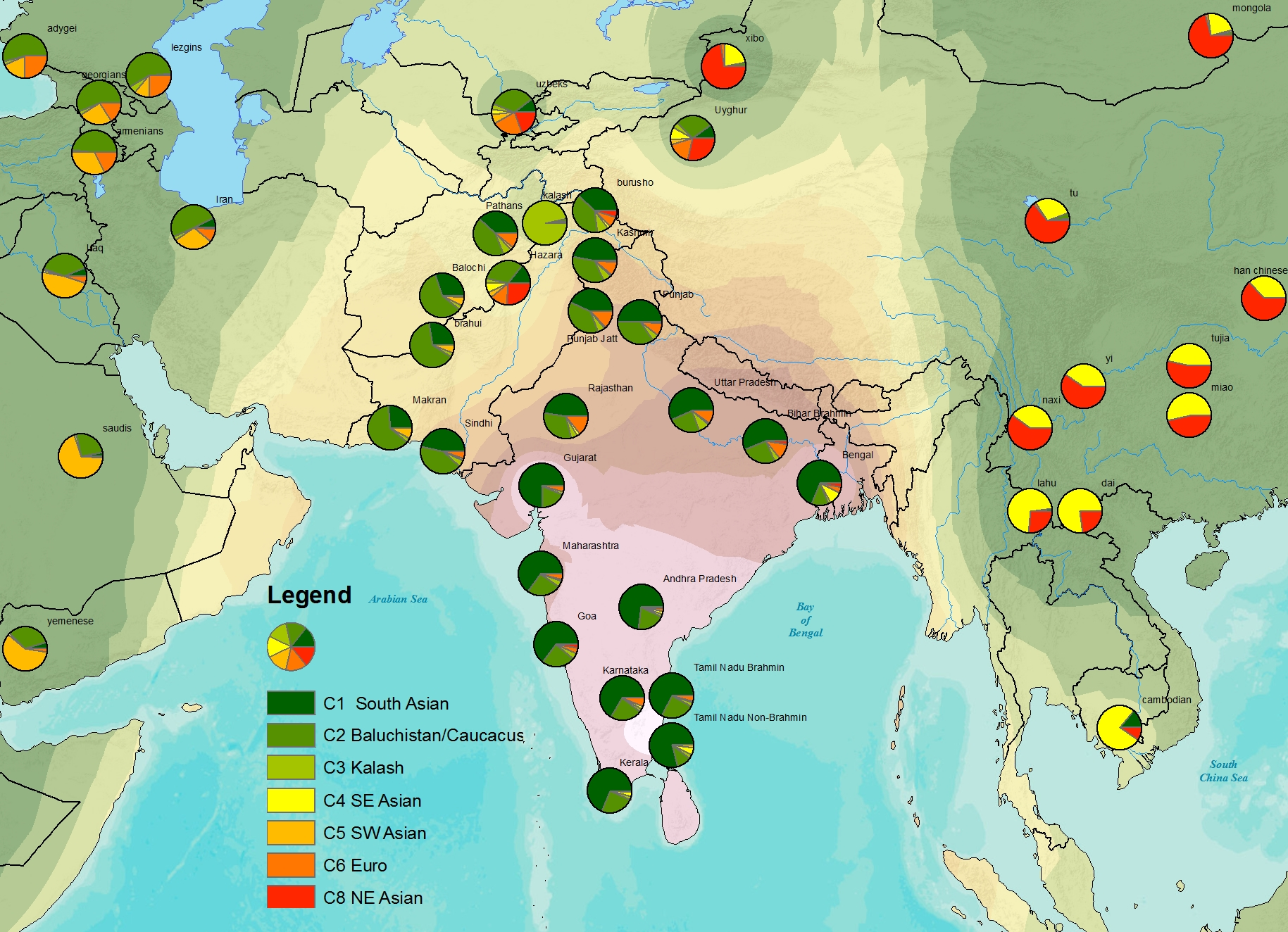 South Asian Map Harappa Ancestry Project - South asia map