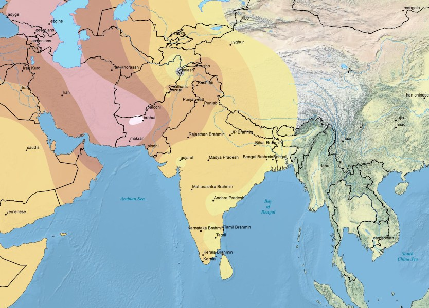isopleth   Harappa Ancestry Project C5 Southwest Asian