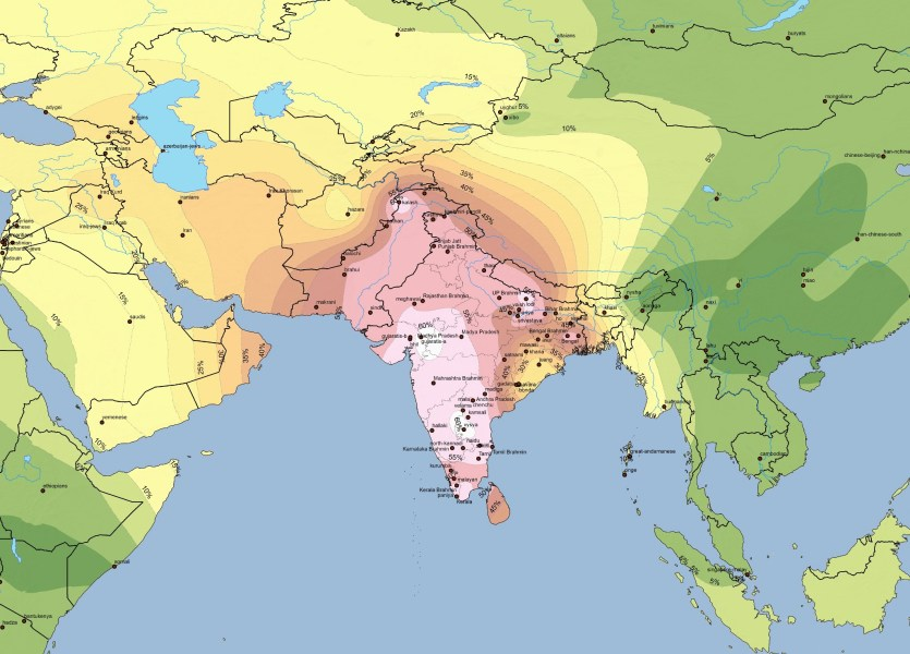 isopleth   Harappa Ancestry Project C1 South Asian Isopleth  C2 Onge Isopleth
